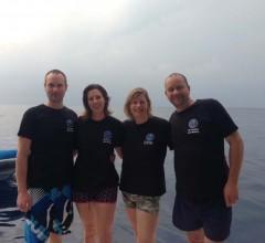 Jon, Lindsey, Janneke and Henk MV Pawara